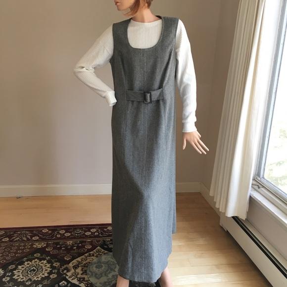 Long beautiful vintage 1970s handmade dress